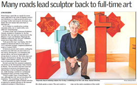 "Article from the West Australian about the ""Human Selection"" exhibition at Elements Gallery Dalkeith 21 July 2010"