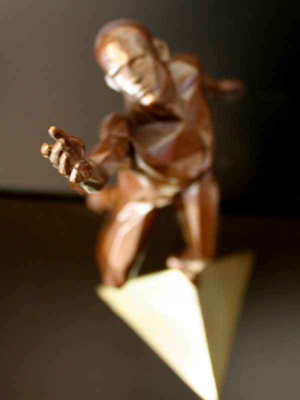 The Final Disappointment a limited edition bronze sculpture by Ken Sealey