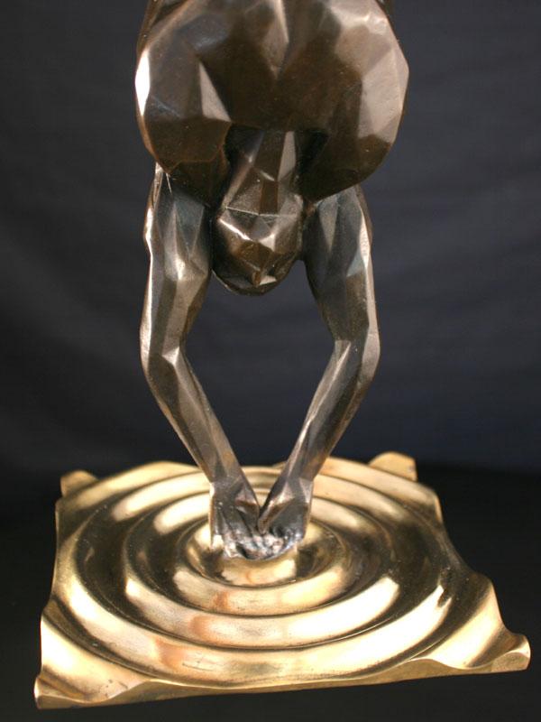 Gender a limited edition bronze sculpture by Ken Sealey