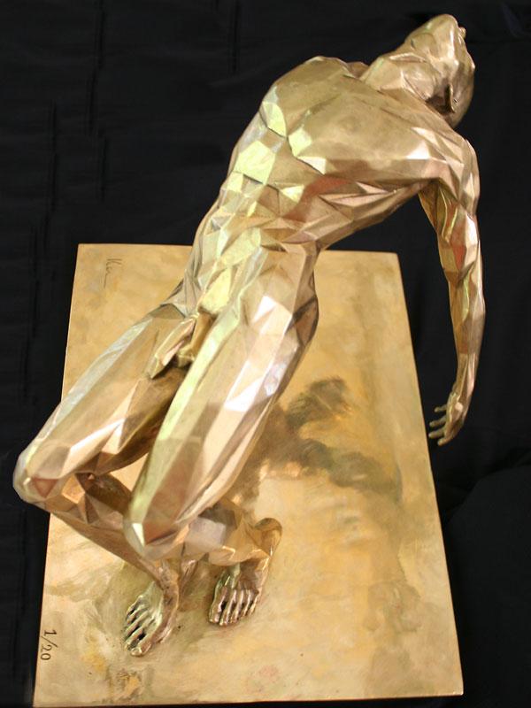 The Fallen a limited edition bronze sculpture by Ken Sealey