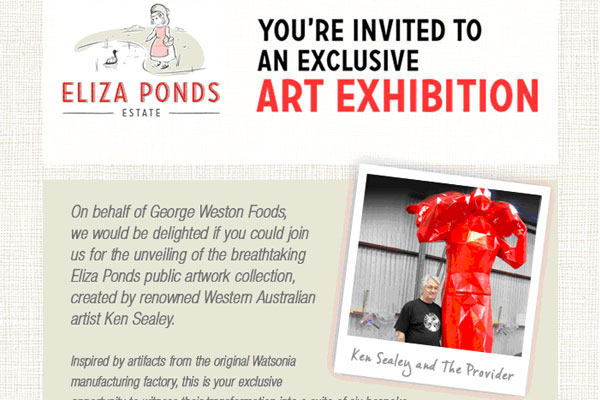 Invite to Public Art exhibition